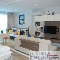 Аренда квартиры с 1й спальней на севере Хуа Хина в Crest Santora — 70186